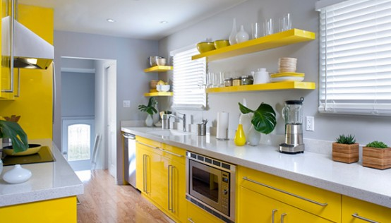 bright yellow kitchen accessories how to design a yellow kitchen gorgeous and comfortable 4918
