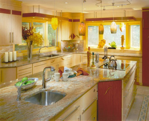 yellow will fit the kitchen design rather naturally for example classic cream or goldish they will rejoice you for many years without any efforts - Kitchen Design In Yellow