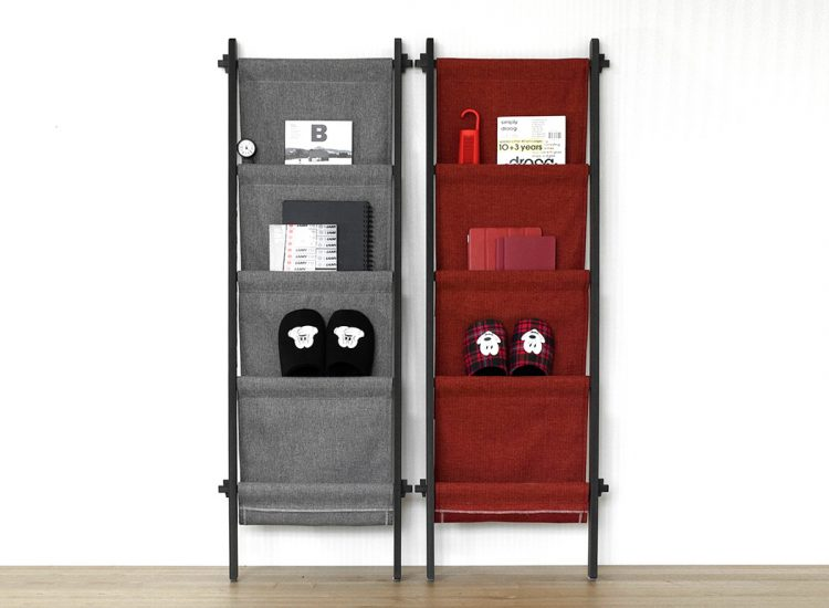 rebook storage unit from fabric and wood