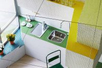 01 This unique apartment is just 36 square meters and it's fully clad with mosaic tiles