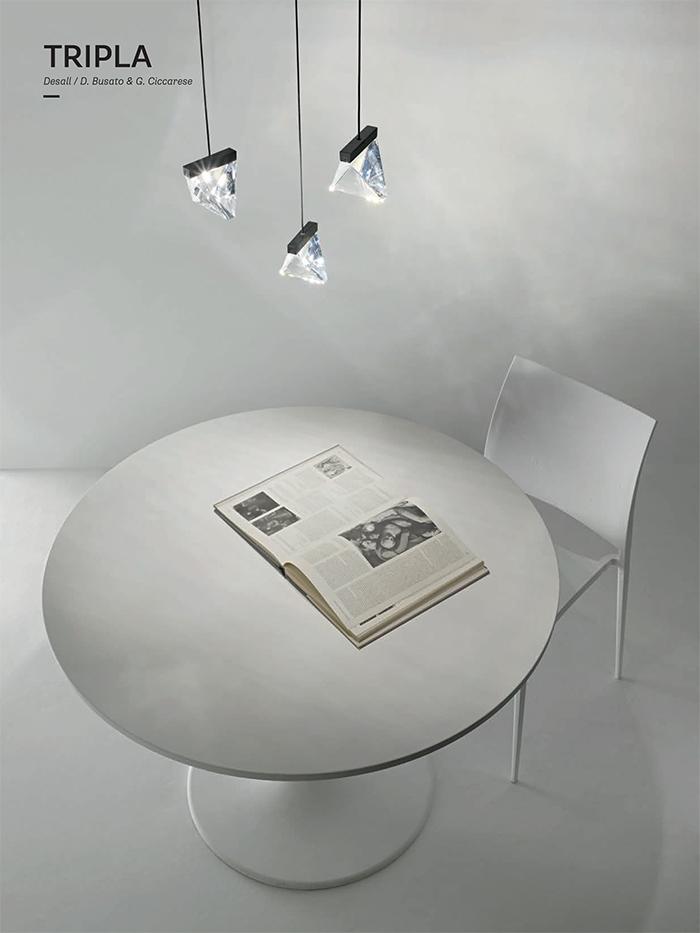 Tripla ultra-modern hanging crystals