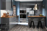 02 Dalfred bar stools in a modern kitchen