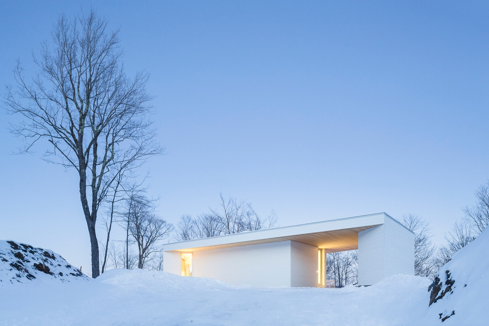 Its minimalist white look is a tribute to long Quebec winters