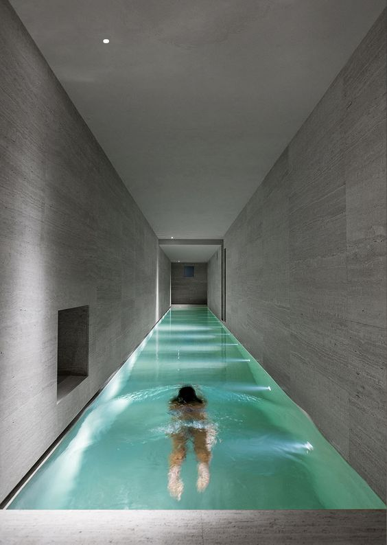 extra long and narrow indoor pool