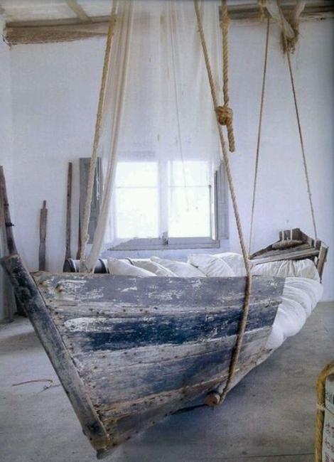 hanging boat bed