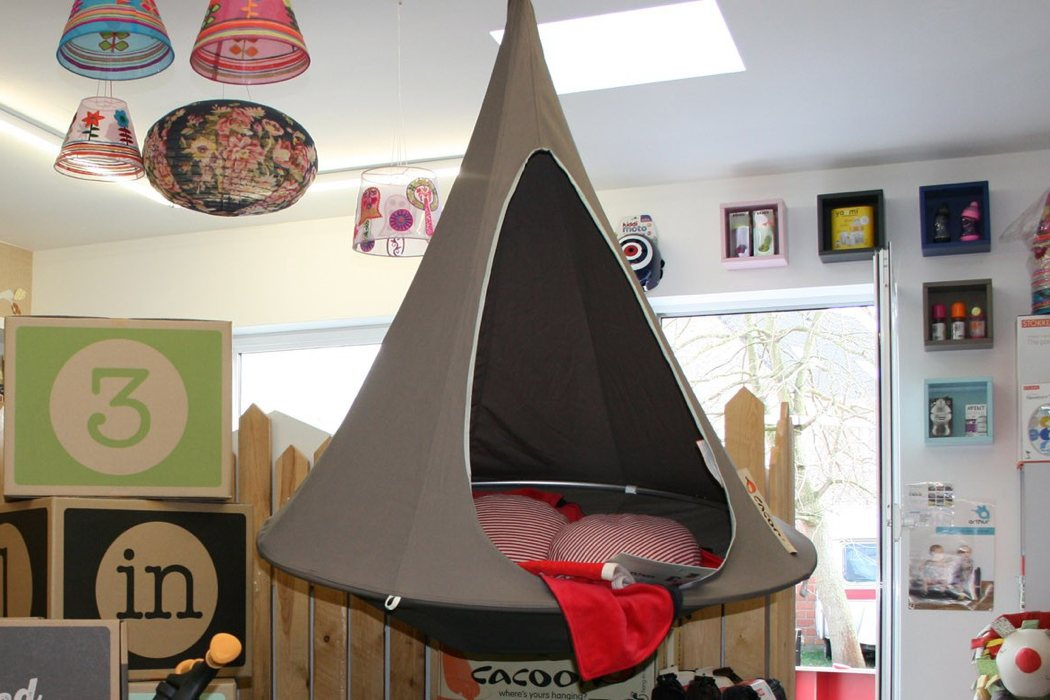 Cacoon chair is suitable for any room of your home, from a living room to a kids' room
