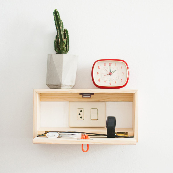 Floating Shelf That Doubles As A Charging Station Digsdigs
