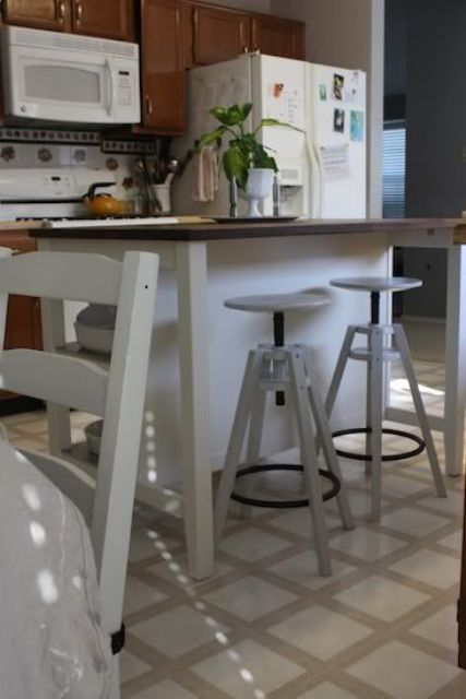 all-white IKEA Dalfred stool