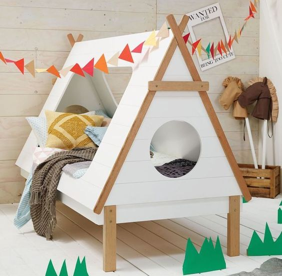 camping-inspired kid bed