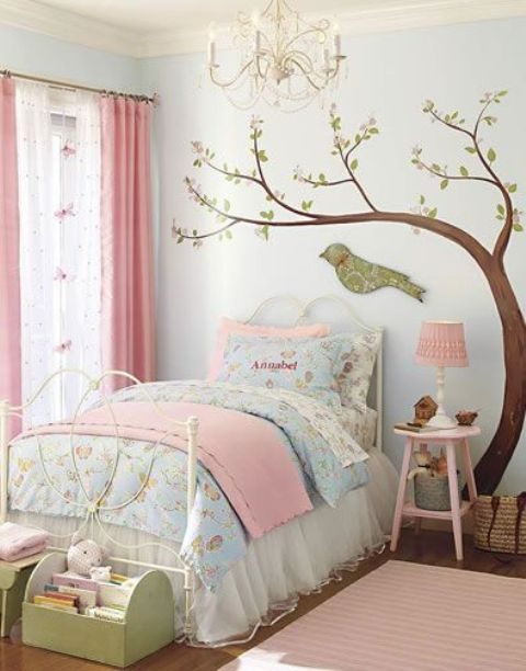 pastel vintage-inspired bedding