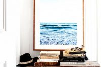 03 the seascape paiting size is ideal for this entryway