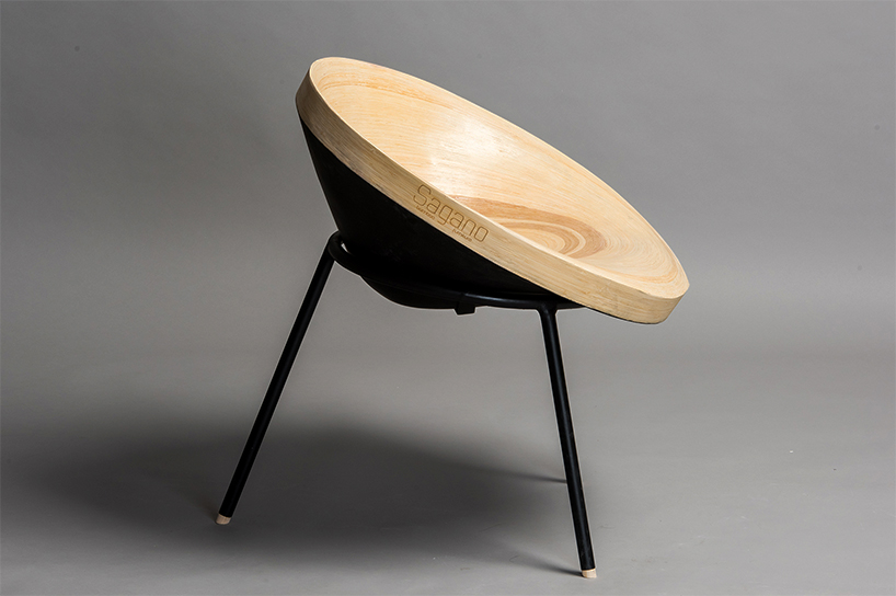 Sagano chair with a black finish