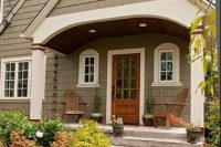 04 cottage entry with a gable roof