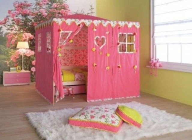 a glam tent girl bed for a little princess