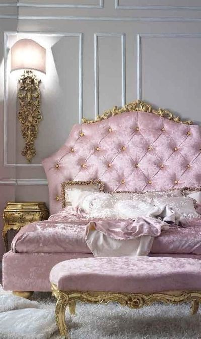 luxurious tufted headboard