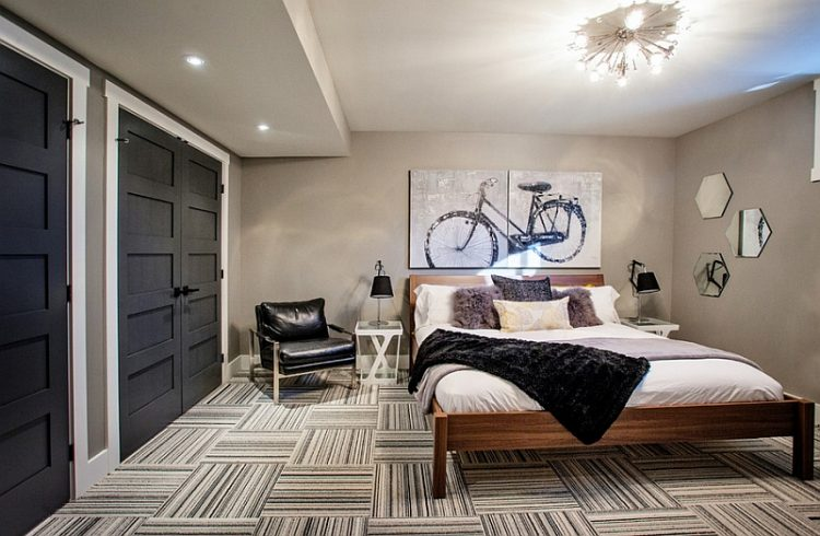 Modern Bedroom Design Works Well In A Basement