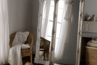 04 two tall mirrors create one more dimansion in your bedroom