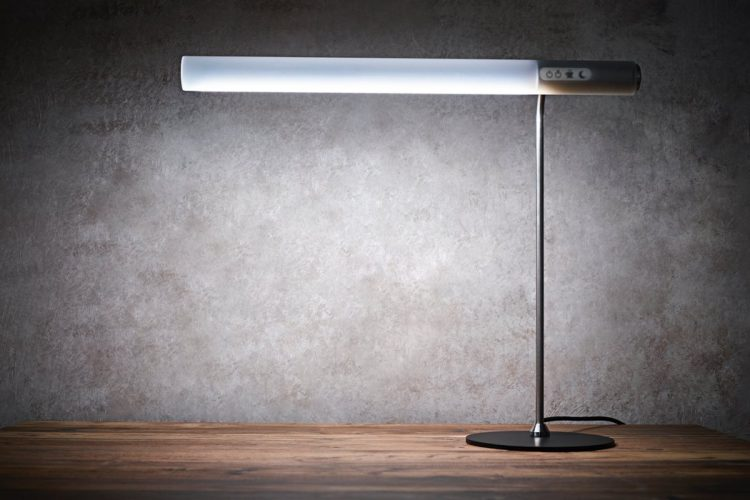 The Caffeine lamp imitates natural light to make you feel better