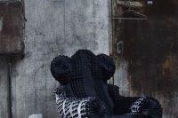 05 black and soft moody reupholstered IKEA Poang