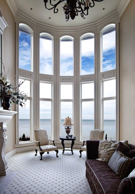 Unique home decor ideas for all these tricky spots 5 tips for Curved bay window