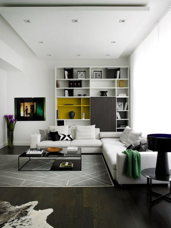 modern living room with no other styles added