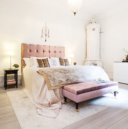 Popular pink tufted headboard
