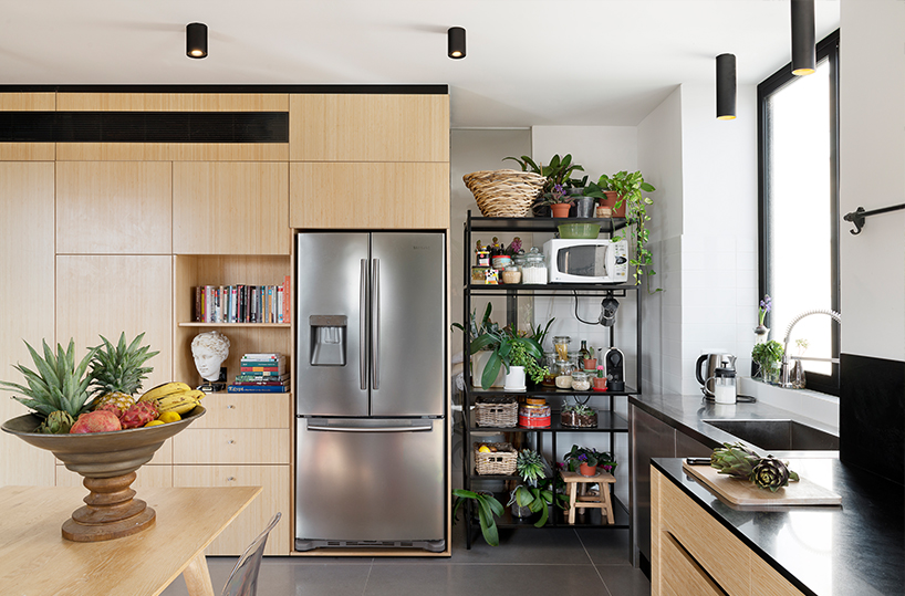the kitchen design is very practical, with different units, each for some purpose