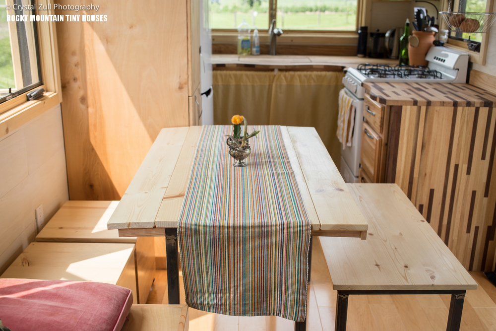 Cool Tiny House Wheels With Bedrooms For Four DigsDigs