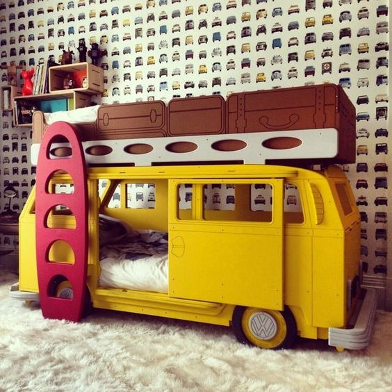a camper van kid bed to make them feel like they live on a beach