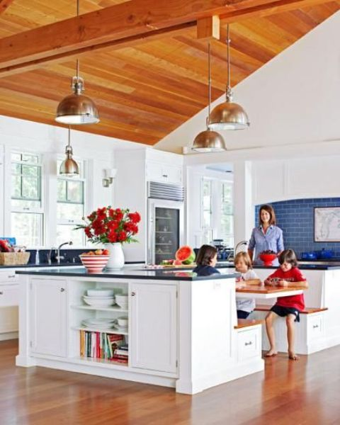 Kitchen Island You Can Eat At: 30 Kitchen Islands With Seating And Dining Areas