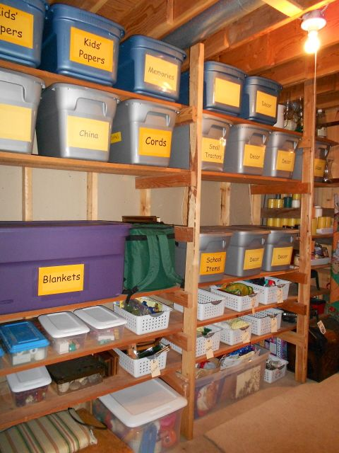 labeled cubbies for storing things