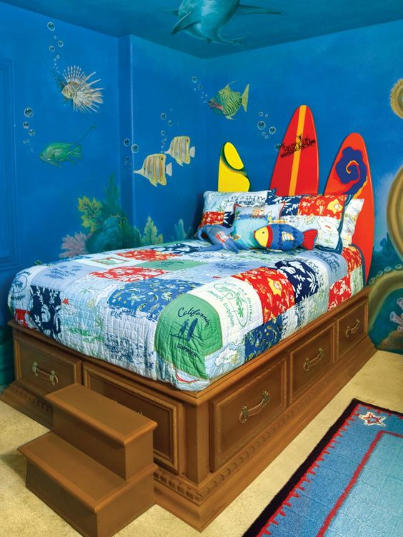Surf Inspired Printed Bedding
