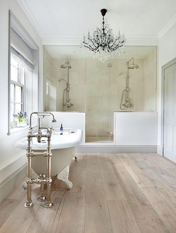 Bathroom Floor Ideas Tile Part - 25: Wood-inspired Tiles