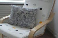 07 cloud-printed Poang chair hack