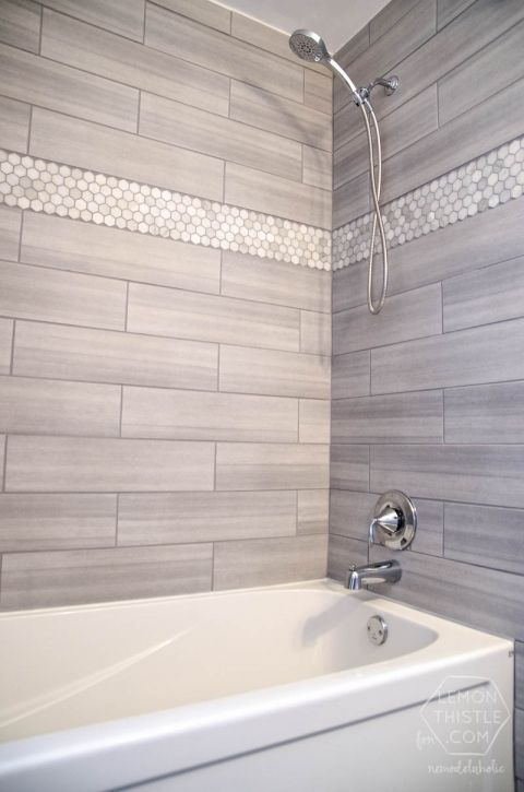 hex mother of peral tiles for a bathroom wall