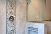 07 stone-inspired tiles with a pebble accent