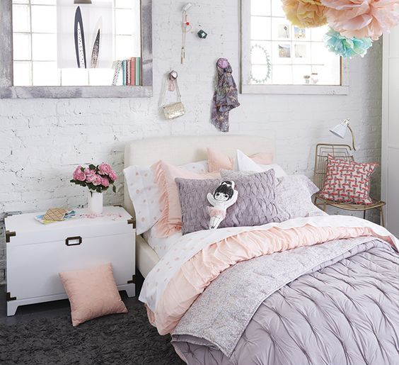 Fancy sweet pastel bedding set
