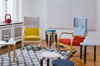 08 color blocked Poang chairs