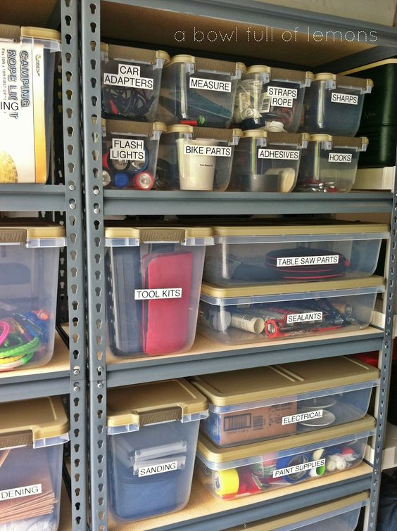 organizing storage with labels