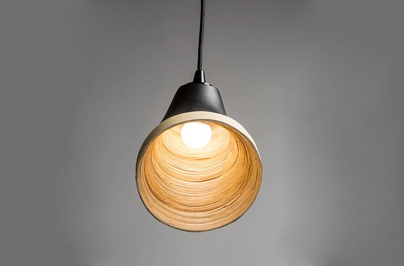 light highlights the Sagano lamp texture