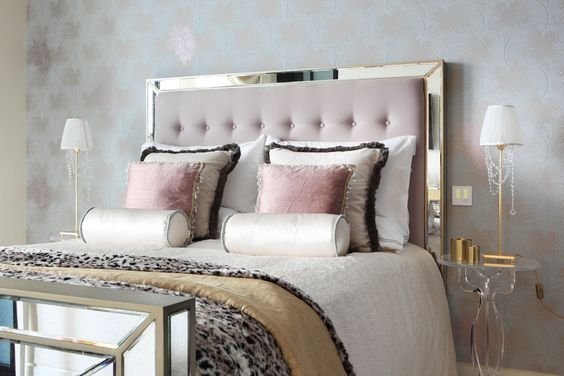 tufted mirror headboard
