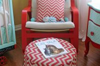 10 DIY Poang chair hack using red paint