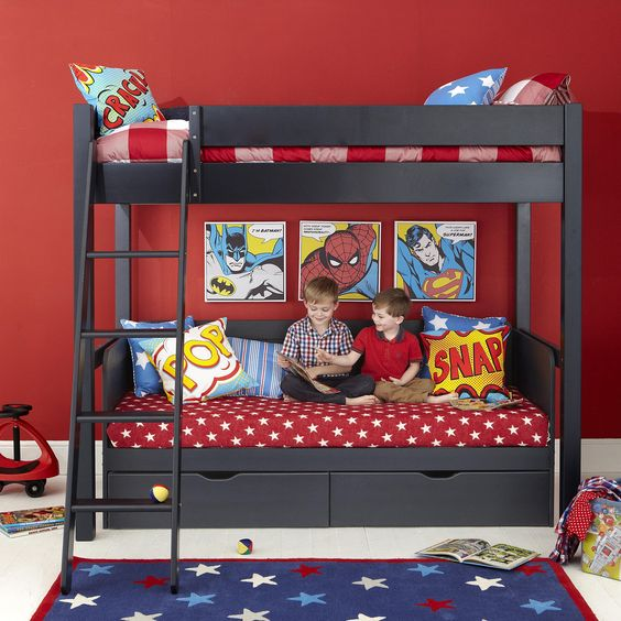 Super Hero print bedding