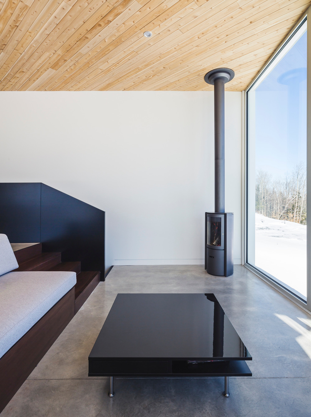 The surfaces are sleek and simple, nothing here distracts attention from the views