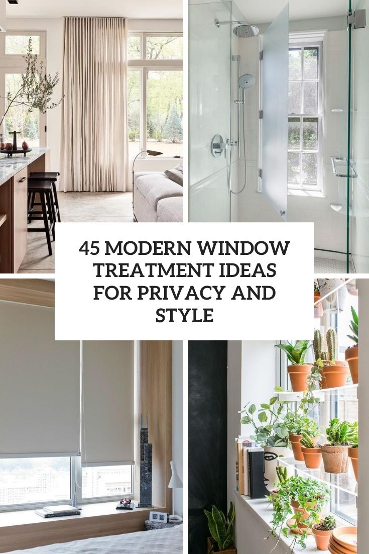 10 modern window treatment ideas cover