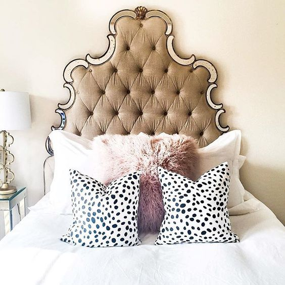 refined tufted feminine headboard