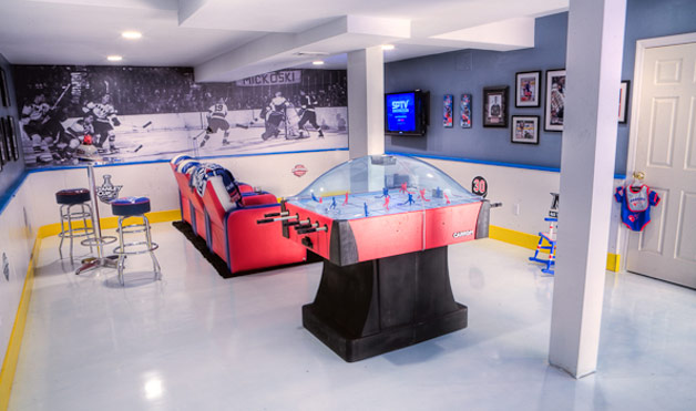 cool sports basement ideas 5 the most cool and wacky basements digsdigs 907