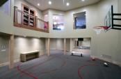 Basketball Court In A Basement