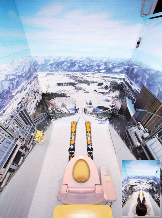 A Bathroom For A Ski Fan