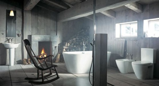 Bathroom In A Barn (via digsdigs)